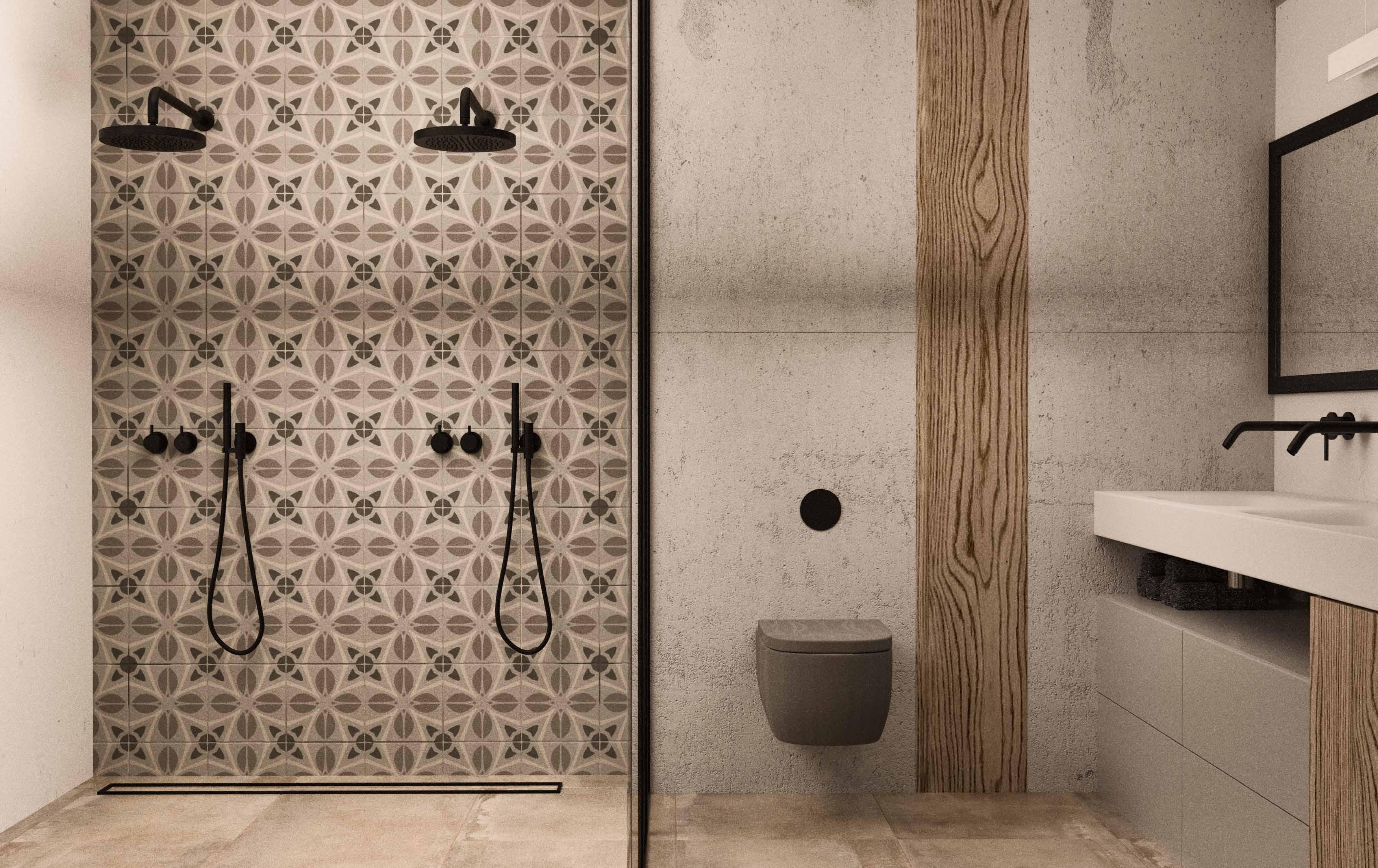 Ścianka prysznicowa ze szkłem (1)